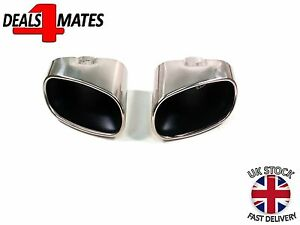 NEW BMW X5 E70 DUAL CHROME EXHAUST PIPE MUFFLE TIP STAINLESS STEEL