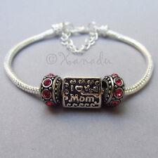 I Love You Mom Bead For All European Brand Charm Bracelet Chains - Gift For Mom