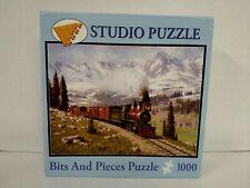 1000 piece A Studio Puzzle 20 X 27 Bits And Pieces Colorado Narrow Gauge Train