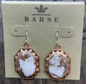 Barse Wild Horse Magnesite Earrings- Copper-NWT