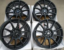 "ALLOY WHEELS X 4 15"" BLACK NEO FITS FORD B MAX ESCORT FOCUS PUMA SIERRA KA 4X108"