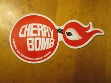 VINTAGE CHERRY BOMB MAREMONT HIGH PERFORMANCE EXHAUST SYSTEMS LARGE STICKER