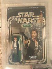 Vintage Star Wars Han Solo 21back B CAS/ Not AFA 85  85/85/85 Unpunched!