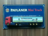 Minitruck Biertruck Brauereitruck 1:87 Paulaner Brauerei Mercedes Truck  in OVP