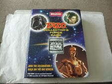 Walkers Star Wars Trilogy Collectors Force Pack Plus set of 50 Tazos Tazo