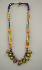 Naga Necklace Brass Head 5 Pendant India Trophy Head Colorful Necklace