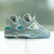 "Air Jordan 4 ""Nike Mag"" By @billboardwalking mens Size 11 Professional Custom"