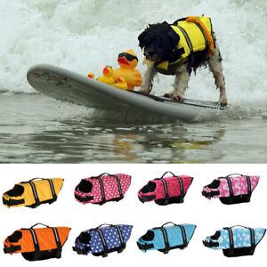 Pet Safety Vest Dog Life Jacket Preserver Puppy Large Swimming 3 Colors