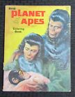 1967 PLANET OF THE APES Coloring Book VG 4.0 Saalfield Artcraft C1837 Uncolored