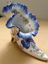 Frilled-top Slipper Shoe with in mold Bow Mosanic Fourmaintraux-Courquin, France
