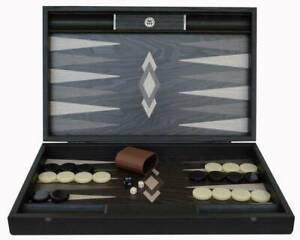 Manopoulos Ebony Burl Luxury Backgammon Set - Handmade in Greece