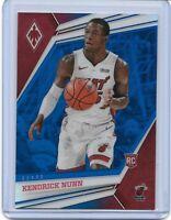 2019-20 Kendrick Nunn Chronicles Flux Blue Prizm Rookie Card 39/99 Miami Heat RC