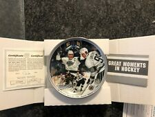 """Great Moments in Hockey"" Gretzky Goal 802, Plate by Glen Green (Dominion China)"