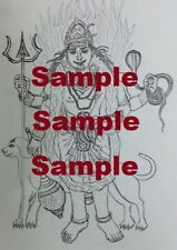 Sketch of Kaala Bhairava (Digital Copy)