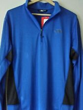 THE NORTH FACE NEW CYCLOGENESIS BLUE LIGHTWEIGHT MENS 1/4 ZIP SHIRT Size M