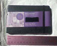 Moleskine Art Plus Black Page Album Pocket Black Hard Cover 35 X 55 New