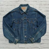 Vintage Levis Type 3 Denim Trucker Jean Jacket Size 46 Made in USA
