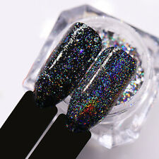 Nail Glitter Powder Holographic Black Laser Dust Manicure Nail Art Decoration