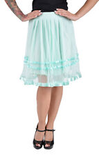 Cute TÜLL 50s Retro PETTICOAT Rock - Mint Rockabilly