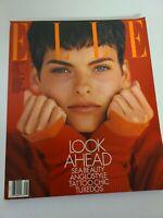 ELLE Vintage Fashion Style Magazine August 1989 No Label Complete