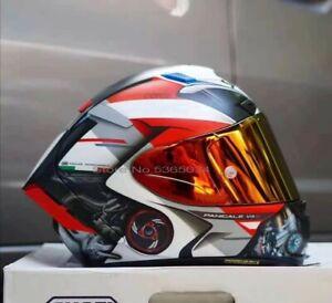 SHOEI X14 Motorcycle Full Face Helmet Sport Ducati V4 Moto GP Racing Gold Visor