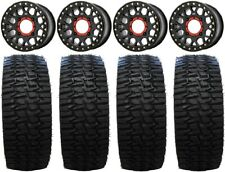 "Xs235 Grenade Black 15"" Wheels 35"" Desert Series Tires Yamaha Viking Wolverine"