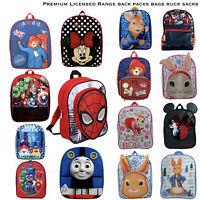 Kids Character School Bag Minnie Peter Rabbit Paw Patrol Spiderman Backpack