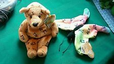 Ali Salvino's Bammers Butterfly and Bear Plush Beanie Set  w/tag