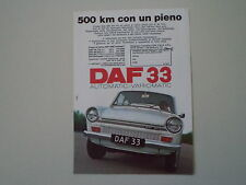 advertising Pubblicità 1970 DAF 33