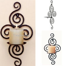 Iron Wall Handmade Hanging Wall Sconce Candle Holder Furnishing Article Decor
