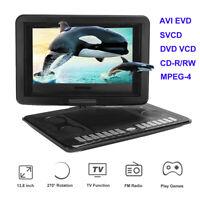 13.8 inch DVD Player 270° Swivel For Game TV Function USB FM AVI EVD SVCD VCD