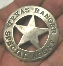 Reproduced Unusual  ROUND <> TEXAS RANGER <> SPECIAL AGENT Badge FREE SH USA