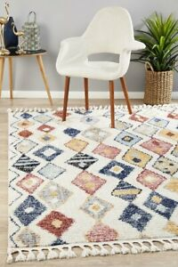 """MARRAKESH Very Thick Shag Rug -Multicoloured- """"Warm, Soft & Easy Cleaning Pile"""""""