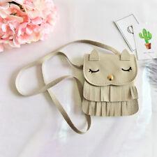 1x Cute Baby Girls tassel Purse handbag Children Kids Cross-body shoulder bag GT