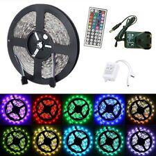 5M 5050 RGB LED Waterproof SMD Flexible Light Strip DC12V +44key Remote + Power
