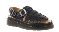 Dr. Martens Fisherman Sandals Archive Grizzly Black Leather Open Toe Mens-11