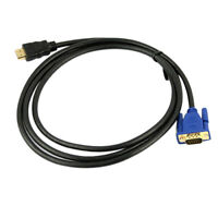 CW_6Ft 1.8M VGA HDMI Gold Male To VGA HD-15 Male Cable 1080P HDMI-VGA M/M Wire