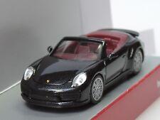 Herpa Porsche 911 Turbo Cabriolet, tiefschwarzmetallic - 038928 - 1:87