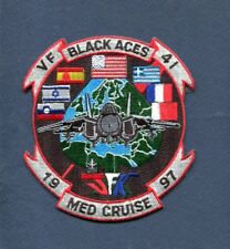 VF-41 BLACK ACES 1997 CV-67 US NAVY F-14 TOMCAT Fighter Squadron Cruise Patch