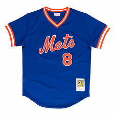 Gary Carter 1986 Royal Blue New York Mets Mitchell and Ness BP Jersey XL
