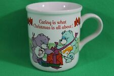 Care Bears 1985 Caring is what Christmas is All About Coffee Cup Mug