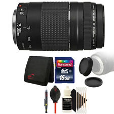 Canon EF 75-300mm f/4-5.6 III Lens + 16GB Accessory Kit for Canon 750D 760D 650D