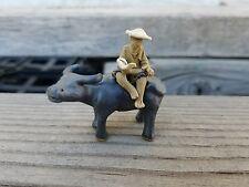 vintage Chinese Mudman Figurine miniature japanese Asian Oriental bonsai decor