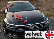 Luxury Wedding Car Decoration Set Kit RED roses FREE door ribbons SALE