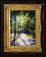 """Oil Painting PRINTED on Canvas Arseni ~ LOVELY MORNING 27,3"""" X 20"""" Impressionism"""