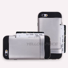 Wallet Case Stand Cover ID Card Slot Holder For Apple iPhone 6 6S 4.7'' w/Films