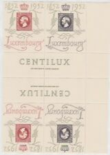 LUXEMBOURG 1952 CENTILUX Postage Pairs with gutter sg552fa MNH cv£380