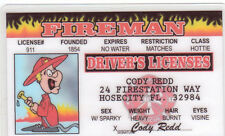 Fireman / FIREFIGHTER Fire Fighter Identification ID card Drivers License