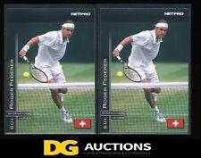 (2) Roger Federer 2003 NETPRO INTERNATIONAL #11 RC PREMIUM TENNIS ROOKIE!