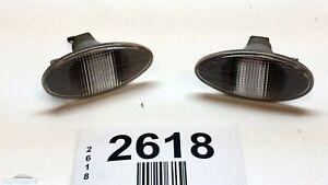 04-07 MITSUBISHI LANCER FRONT DRIVER PASSENGER SIDE MAKERT LIGHT LAMP OEM